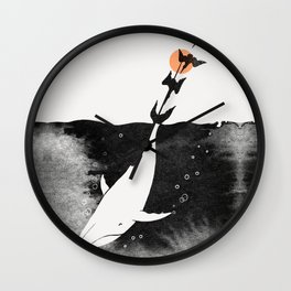 Dive into Happiness Wall Clock