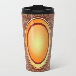 Badge gilding sun red oriental Travel Mug