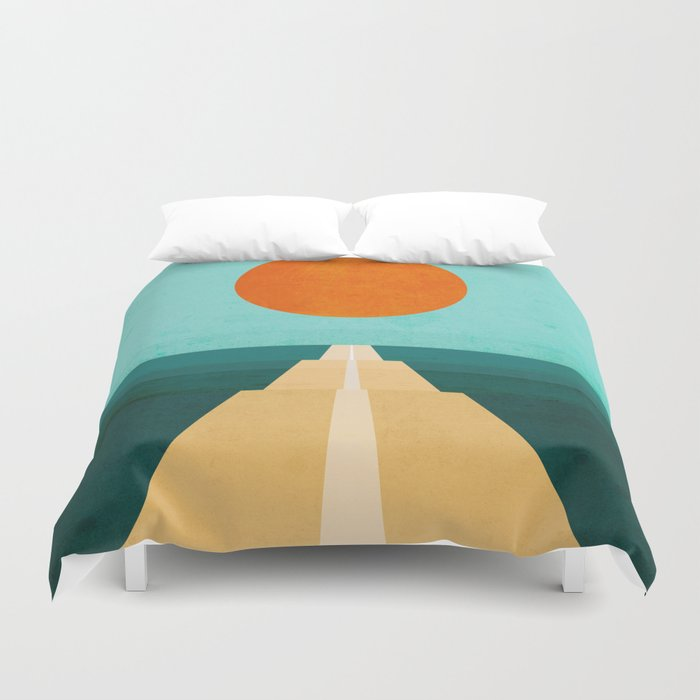 The Road Less Traveled Duvet Cover