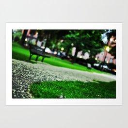 Boston Public Garden at Dusk Art Print