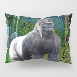 Silverback Gorilla Guardian of the Rainforest Pillow Sham