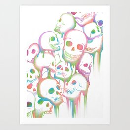 Melting Art Print