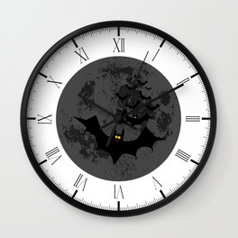 Vampire Bats Against The Dark Moon Wall Clock