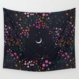 Midnight Garden Wall Tapestry
