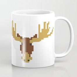 1980s Retro 8 Bit Pixel Moose Head Coffee Mug