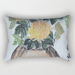 Chrysanthemum Flowers In The Vase Rectangular Pillow