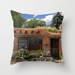 Casita de Santa Fe Throw Pillow