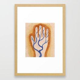 River Hand Framed Art Print