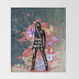 Buffy Quote Throw Blanket