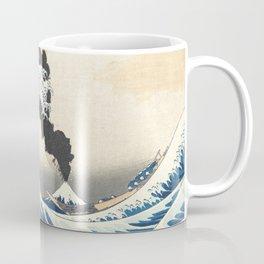 Great Wave off Kanagawa Mount Fuji Eruption Katsushika Hokusai Coffee Mug