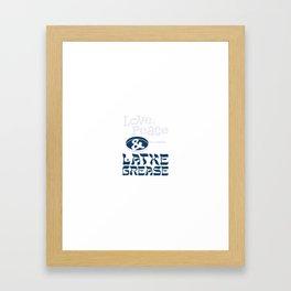 Love, Peace & Latke Grease Framed Art Print