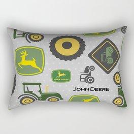 Farm Tractor - Green Rectangular Pillow
