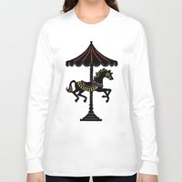 carousel Long Sleeve T-shirts featuring Carousel Horse by Whimsy Notions Designs