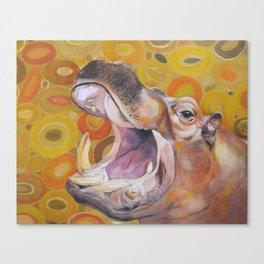 Bruce the Hippo Canvas Print