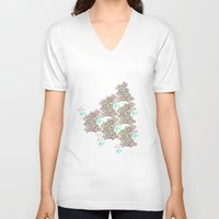keith haring V-neck T-shirts featuring Haring Squiggle by Indigo Images