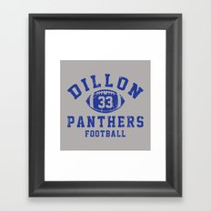 dillon panthers football #33 Framed Art Print