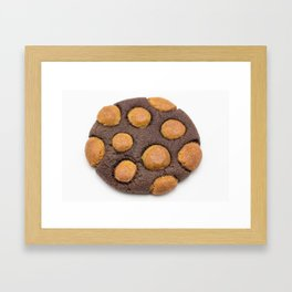 Chocolate-Gingerbread Dough Cookie Framed Art Print