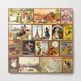Vintage Chocolate Advertisements Metal Print