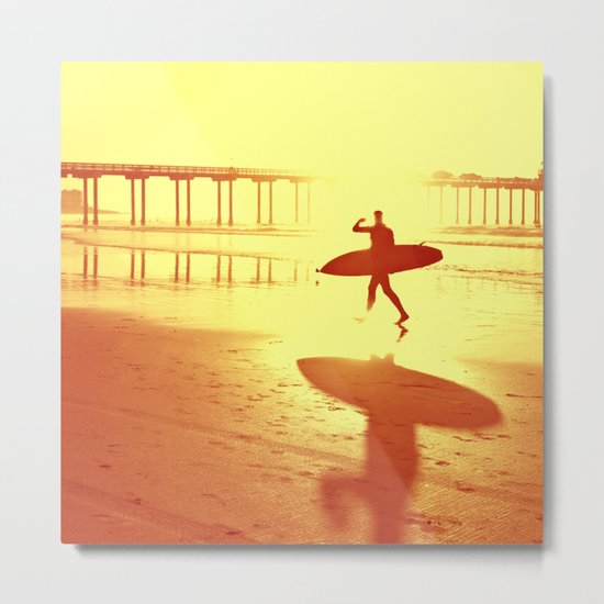 The Shadow Surfer Metal Print