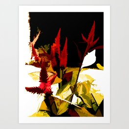 Flowering Abstract Art Print