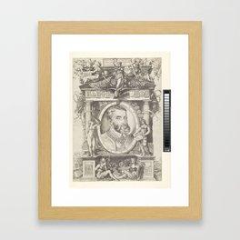 Portret van Keizer Karel V, Nicolo of the House, 1538 - 1552 Framed Art Print