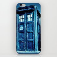 tardis iPhone & iPod Skins featuring TARDIS by Hands in the Sky