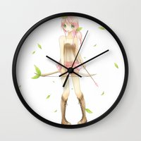 archer Wall Clocks featuring archer by waffle