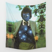 sagan Wall Tapestries featuring Everything the universe is within you  by Mariano Peccinetti