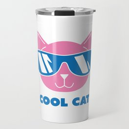 Animals Cool Cat in Sunglasses Shades Travel Mug
