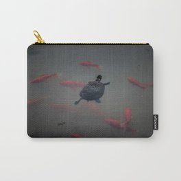 Painted Turtle Among Koi Carry-All Pouch