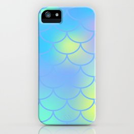 Turquoise Mermaid Pattern iPhone Case