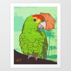Parrot illustration Art Print