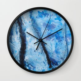 Blizzard forest Wall Clock