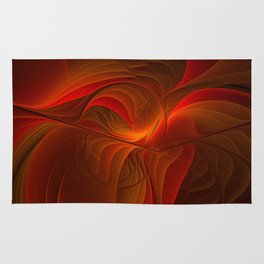 Warmth, Abstract Fractal Art Rug