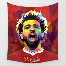 Mo Salah WPAP Wall Tapestry