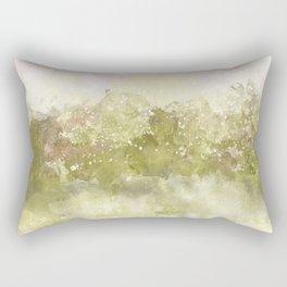 Choppy Soft Pink and Deep Yellow Ocean Water Rectangular Pillow