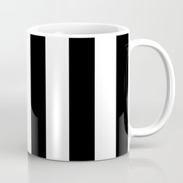 Abstract Black and White Vertical Stripe Lines 6 Coffee Mug