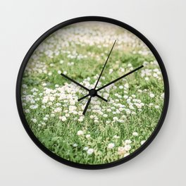 Field of Daisies 03 Wall Clock