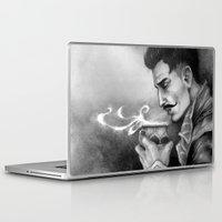 """dragon age inquisition Laptop & iPad Skins featuring Dragon Age Inquisition - Dorian Pavus - Morning tea by Barbara """"Yuhime"""" Wyrowińska"""