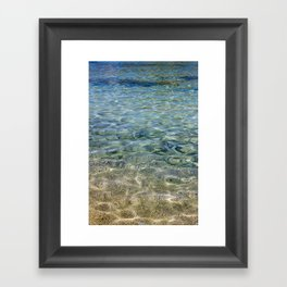 touching water Framed Art Print