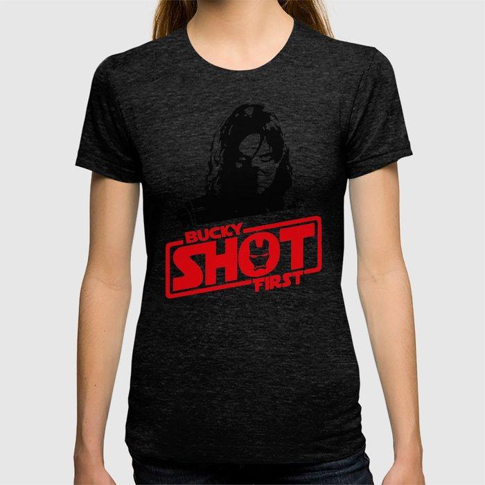Winter Soldier- Bucky Shot First T-shirt