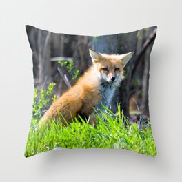 I Am the Fox. Who Are You? Throw Pillow