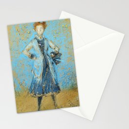The Blue Girl 1874 By James Mcneill Whistler | Reproduction Stationery Cards