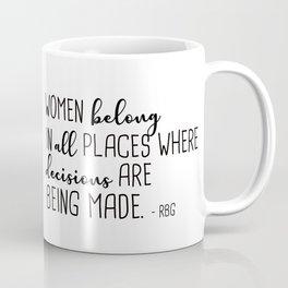 Women belong in all places Coffee Mug