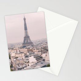 A View of the Eiffel Tower in Paris Stationery Cards