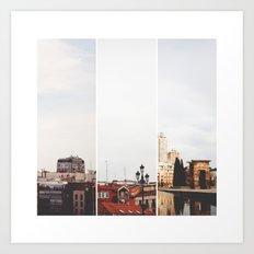 Above Madrid Art Print