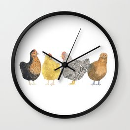 Chickens Wall Clock