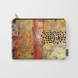 Orange Gold Burst Abstract Art Collage Carry-All Pouch