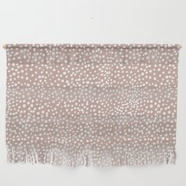 Little wild cheetah spots animal print neutral home trend warm dusty rose coral Wall Hanging