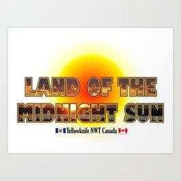 Land Of The Midnight Sun Art Print